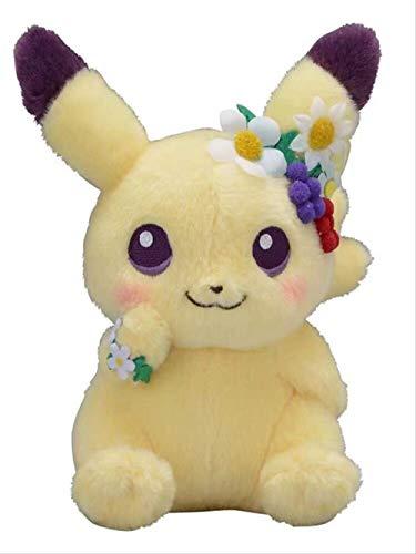 SKYLULU Pascua Pikachu Garland Pikachu Original Ibe Plush Toy Doll Doll 18cm Amarillo