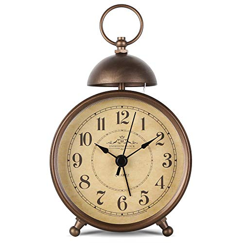 Retro Single Bell Loud Alarm Clock
