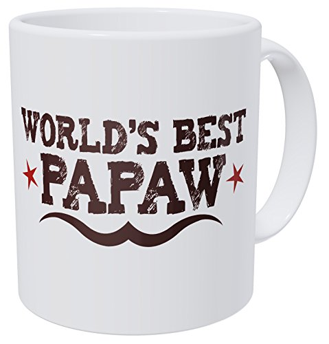 Wampumtuk World's Best Papaw Grandfather 11 Ounces Funny Coffee Mug