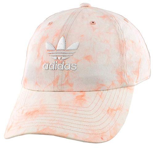 adidas Originals Women's Relaxed Tie Dye Strapback Cap, Dust Pink/White, ONE SIZE