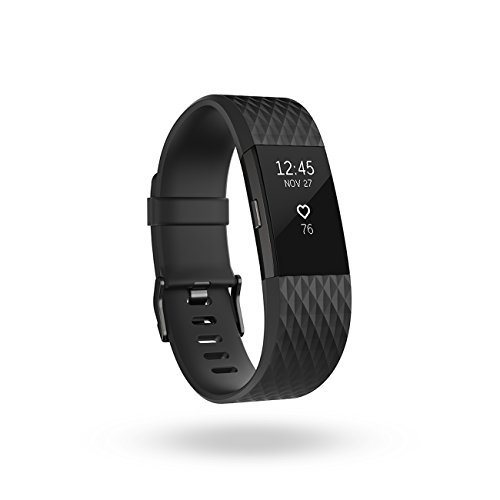 Fitbit Charge 2, Heart Rate + Fitness Wristband, Speical Edition, Gunmetal, Large