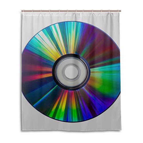 GIRLOS Coloridos Efectos de refracción en DVD Cortina de Ducha Larga Durable Resistente al Agua con 12…
