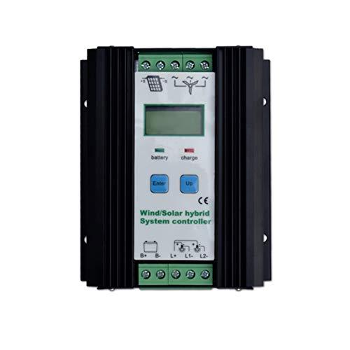 Regulador híbrido solar del viento 800W turbina de viento 500W regulador solar de la carga del panel 300W regulador automático de la batería 12V / 24V con la exhibición grande del LCD