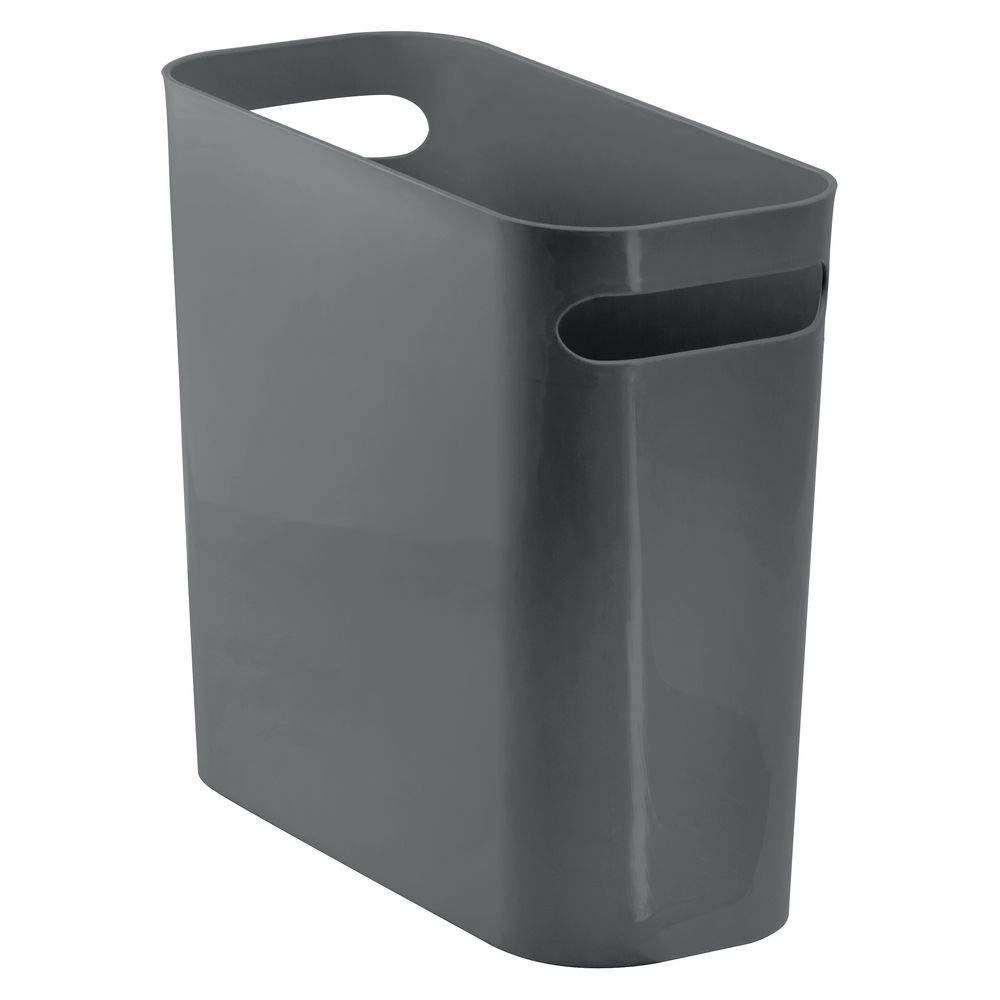 mDesign Rectangular Wastebasket Container Bathroom