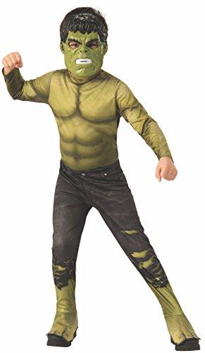 Avengers - Disfraz oficial de Hulk para niño, infantil 5-7 años (Rubie's 641054-M)