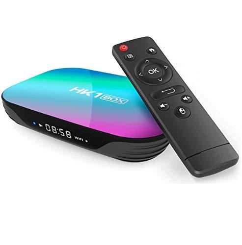 Sofobod HK1 Box TV Box Android 90 4GB RAM 32GB ROM S905X3 Quad Core 64bit Cortex A55 GPU G31 MP2 24G5G dual WiFi BT40 H265 Decoding LAN 1000 RJ 45 HD 8K Smart TV Box