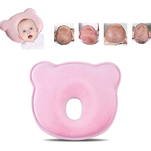 babykissen gegen plattkopf,Baby-Kissen fr Flachkopf-Syndrom,Memory-Schaum-Kissen fr Baby,das Baby Kissen,Babykissen gegen,Babykissen Orthopdisches (Rosa)