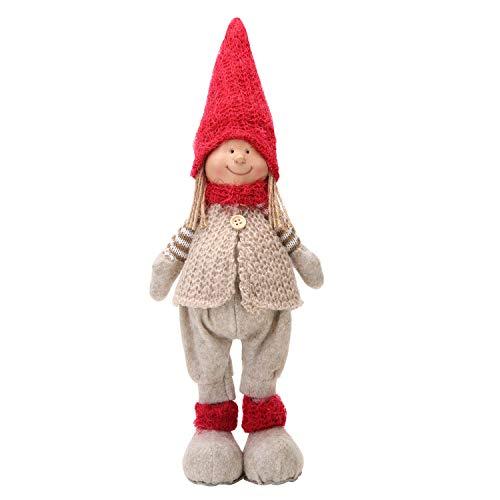 LARLIFE Handmade Christmas Gnome Valentines Gnome Xmas Boys & Girls Decoration Swedish Santa Figurines (Boy)