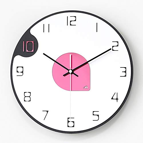 Simple Wall Clock, 12inches grote decoratieve hangklok, Nordic Style Indoor Silent Klokken batterijvoeding for Slaapkamer Woonkamer (Color : C)