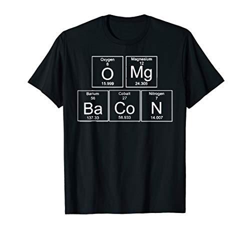 Funny Periodic Table Shirt OMG BACON Grey T-Shirt