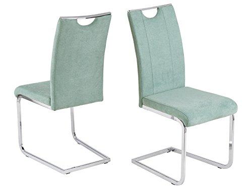 möbelando Schwingstuhl Esszimmerstuhl Stuhl-Set Küchenstuhl Stuhl Southend I (4-er Set) Mint