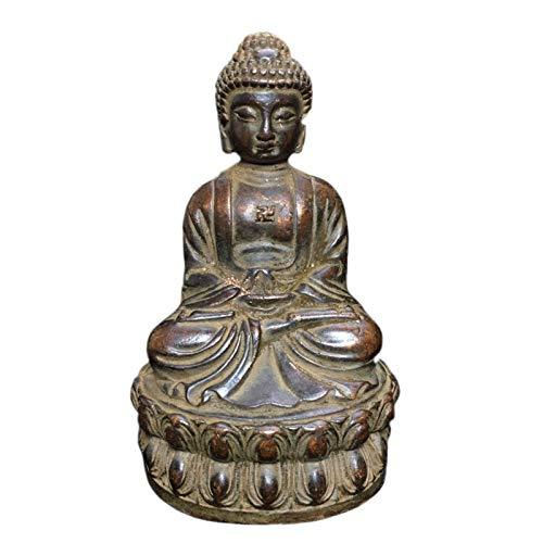 Estatua impresionante casa jardín ornamento escultura decoración meditando sentado buda estatua estatua decoración, estatua de buda figurilla de cobre shakyamuni buda estatua estatua estatuilla artesa