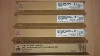 Genuine Ricoh Type MP C400 / C240 / LD140C High Yield Toner Bundle Set 841724,841725, 841726, 841727, BCYM Sealed In Retail Packaging by Ricoh Savin Lanier