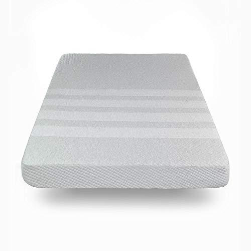 Sleep Bud Colchón Individual Memory Foam Viscoelastic (Semi Firme), Blanco, Twin