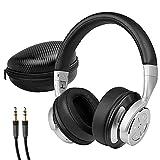 MEDION P62049 Noise Cancelling Kopfhörer (Bluetooth, Wireless, aktiver Geräuschunterdrückung, bis zu 16 St&en Akkulaufzeit, Freisprechfunktion, Bluetooth 4.0) Schwarz-Silber