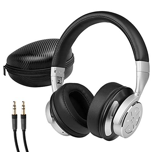 MEDION P62049 Noise Cancelling Kopfhörer (Bluetooth, Wireless, aktiver Geräuschunterdrückung, bis zu 16 Stunden Akkulaufzeit, Freisprechfunktion, Bluetooth 4.0) Schwarz-Silber