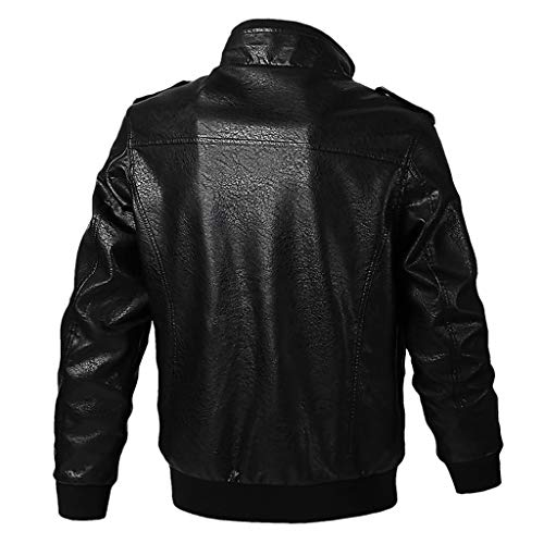 Great Features Of Redacel Men Jackets, Lightweight Pockets Zip Front Stand Collar Military Jackets W...