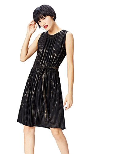 find. 16563 vestito da sera donna, Nero (Black/gold), 40 (Taglia Produttore: X-Small)