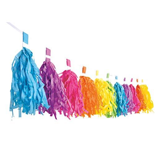 Decor Service slinger, papier, kleurrijk, 3 m