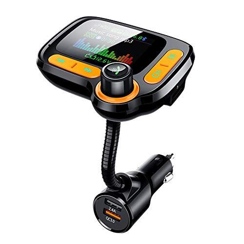 WZhen C86 Qc3.0 Cargador Rápido Surpport 64Gb USB Mp3 Reproductor Kit De Coche Manos Libres Bluetooth FM Transmisor TF Aux Receptor De Audio