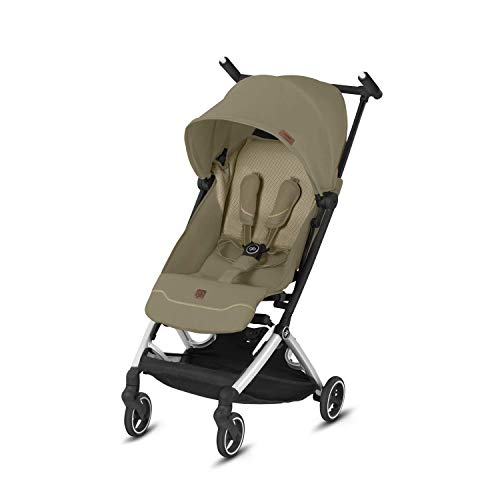 gb Pockit+ All City Vanilla Beige Lightweight Baby Stroller, Umbrella Stroller, Collapsible, Travel-Friendly, Folds into Backpack,Reclining Seat, UPF50+ Sun Canopy, Pockit Plus