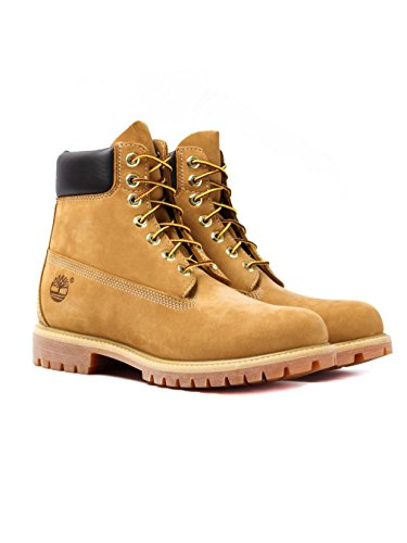 Timberland 6-Inch Premium Boot, Botas para Hombre, Amarillo (Wheat Nubuck), 43 EU