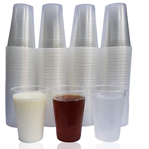 Eden plastic beker, wegwerp drinkbeker van bio-polypropyleen voor water en andere koude dranken, 0,2 liter, stabiele waterbeker, ideaal voor feestjes, camping, verjaardag, enz.
