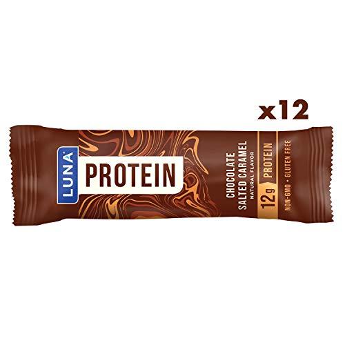 LUNA PROTEIN - Gluten Free Protein Bar - Chocolate Salted Caramel Flavor - (1.59 Ounce Snack Bar, 12 Count)