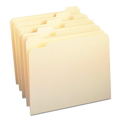 Smead File Folder, 1/5-Cut Tab, Assorted Position, Letter Size, Manila, 100 Per Box (10350)