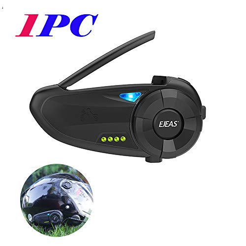 Q20 Intercomunicador Casco Moto, Intercomunicador Bluetooth para Moto Manos Libres Radio FM, Intercomunicador Full-Duplex 2S Emparejamiento, Impermeabilidad