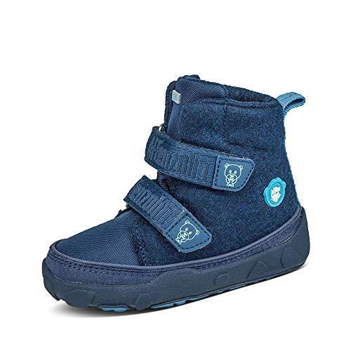 Affenzahn Botas de invierno unisex para niños, con diseño de oso azul 31