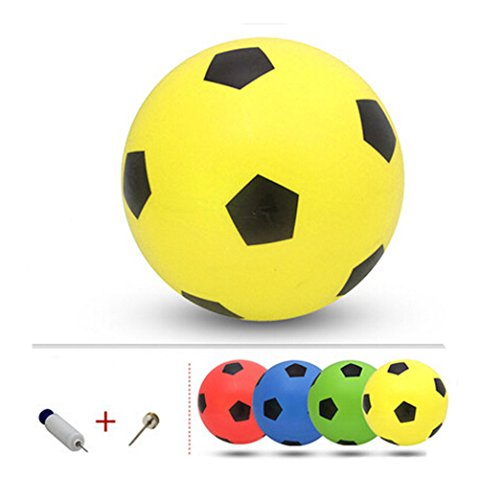 Gonflable Soccer Balls Pool Party Favor beachballs Yellow Outdoor, 8.3 ''