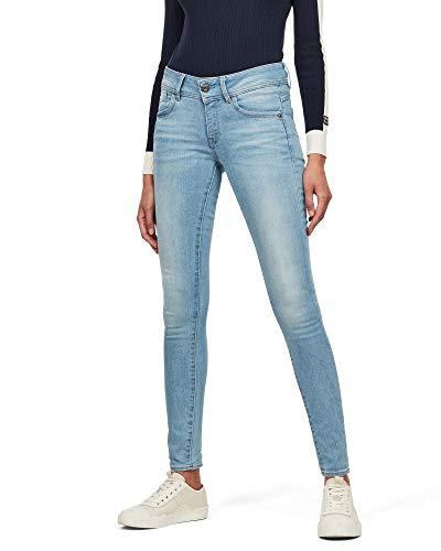 G-STAR RAW Damen Lynn Mid Skinny Jeans, Lt Aged 6553-424, 29W / 32L