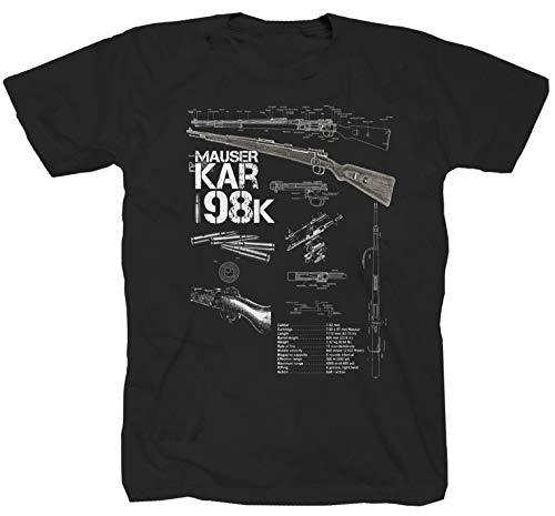 Mauser Karabiner 98 Gewehr schwarz T-Shirt (L)