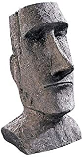 Design Toscano Easter Island Ahu Akivi Moai Monolith Garden Statue, Desktop, 9 Inch, Polyresin, Grey Stone