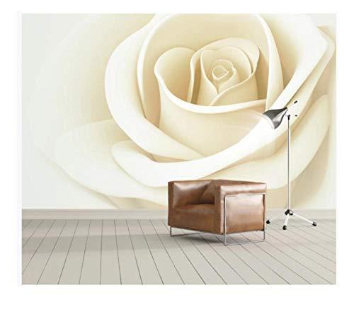 3D Wallpaper Benutzerdefiniert Irgendeine Größe Wandtapete 3D Stereo Blume Rose Wandfernseher Hintergrund 3D Wandtapete 380X260Cm