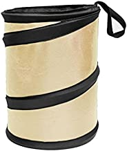 FH Group FH1120BEIGE Beige Car Garbage Trash Can (Collapsible and Compact)