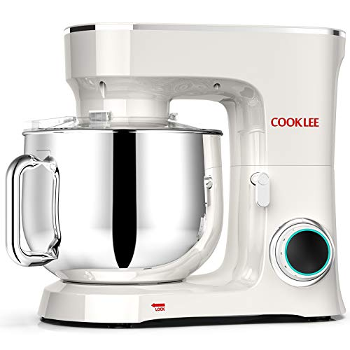 COOKLEE Stand Mixer, 9.5 Qt. 660W 10-Speed Electric Kitchen Mixer with Dishwasher-Safe Dough Hooks,...
