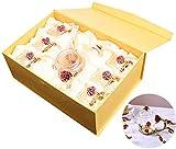 Wasserkocher Gusseisen Teekanne Handgefertigte Emaille Glas Teekanne Blumentasse Glas Kung Fu Teeservice für Haushalt Büro Teezubehör Teetasse (Color : A) Exquisit