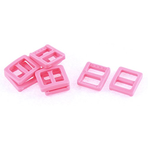 Sourcingmap® kunststof Tri Glide Slide gesp 11 mm riem slot 8 roze