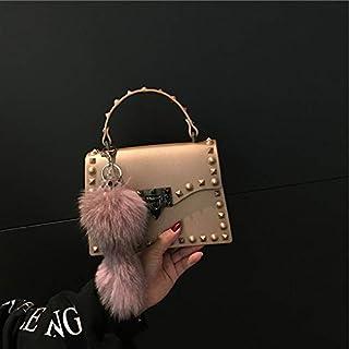 Adebie - Fashion Jelly Women Handbags Lady Brand Designer High Quality Shoulder Crossbody Bags for Girl Cute Luxury Rivet Small Tote Bag S Gold []