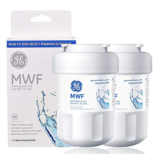 MWF Refrigerator Water Filter Replacement for GE Refrigerator Smartwater Compatible with GE MWF,MWFP, MWFA,MWFINT,GWF, GWFA,GWF01, GWF06, HWF, HWFA, FMG-1, FMG Water Filter Cartridge (2 Pack)