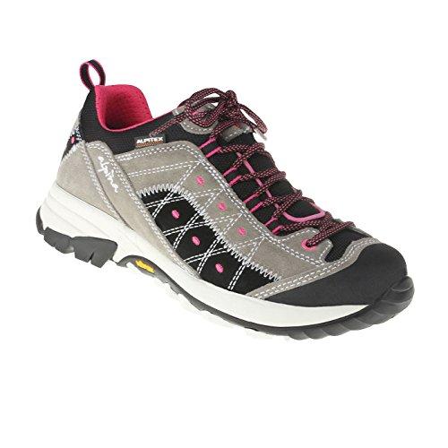 alpina Damen Schnürer Kim | Echtes Leder | Weite H | Trekking 39 grau