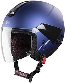 Hi-Gn Steelbird Helmet Sbh-5 Vic Open Face Helmet With Plain Visor (580 Mm, Glossy Yamaha Blue)