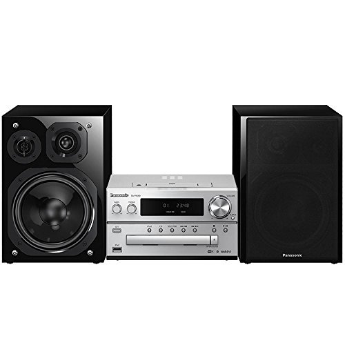 Panasonic Micro Home HiFi Sound System SC-PMX9 (Silver/Black) Bluetooth Music Play, High Resolution Music Play