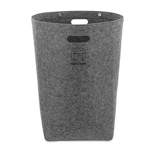 Faltbarer Wäschekorb Filz XL La&ry Hamper Aufbewahrung Waeschekorb für Holz wäschebox holzkorb Faltbarer Wäschesammler mit Handgriffen und Magnetverschluss - Wäschesack