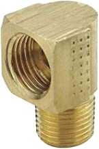 Tompkins 402-05-02 Flare Tube to Pipe 90 Elbow, 1/2-20 Inverted Flare x 1/8-27 MP, Brass