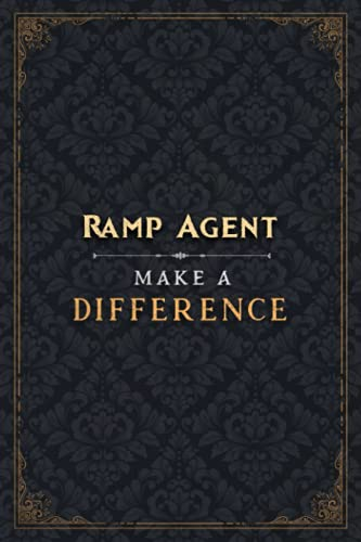 Ramp Agent Make A Difference Notebook Planner Journal: 120 Pages, Homeschool, 6x9 inch, College, Planning, Mom, To Do List, Cute, 5.24 x 22.86 cm, A5