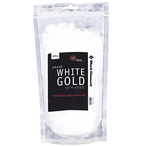 Black Diamond White Gold Loose Chalk Magnesium zum Klettern, Bouldern, Turnen, 200g