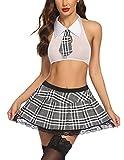 Avidlove Women Schoolgirl Lingerie Set Roleplay Costume Sexy Teacher Lingerie Gary L Gray